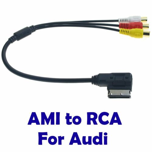 AMI MMI 3 RCA Phono Audio AV Composite Video Cable For AUDI A1 A8 Q7 Series
