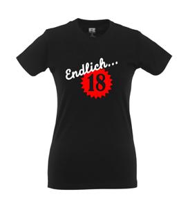 Endlich 18 I Fun I Lustig I Sprüche I Girlie Shirt Ebay