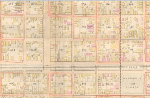 1883 FAUBOURG MARIGNY BOURBON STREET ATLAS MAP NEW ORLEANS LOUISIANA ARTS ST