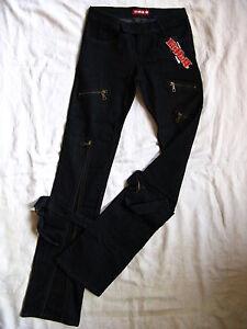 KILLAH-BY-MISS-SIXTY-Blue-Jeans-Denim-w26-l34-Low-Waist-Slim-Fit-Straight-Leg