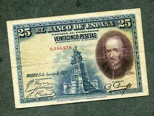 BILLETE 25 pesetas 1928 SIN SERIE 6048938  MBC