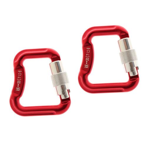 Rot 2er Aluminiumlegierungsverschluss Karibiner für Gleitschirmfliegen