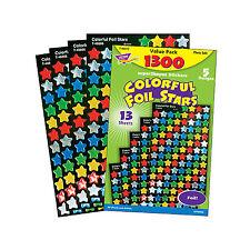 1300 Foil Star School Teacher Reward Stickers - Ideal For Progress Charts