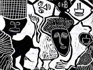 Image Is Loading PAINTINGS PORTRAIT BLACK WHITE IGBO PEOPLE FINE ART
