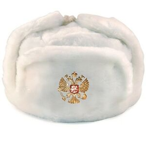 4fdaaeb973d00 Image is loading RUSSIAN-WHITE-MILITARY-WINTER-USHANKA-HAT-WITH-RUSSIA-