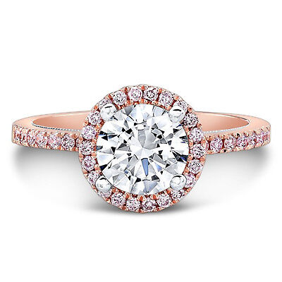 Intellective 1.25 Ct Real Moissanite Solitaire Rings 14k Solid Rose Gold Womens Ring Size N J For Fast Shipping Jewelry & Watches
