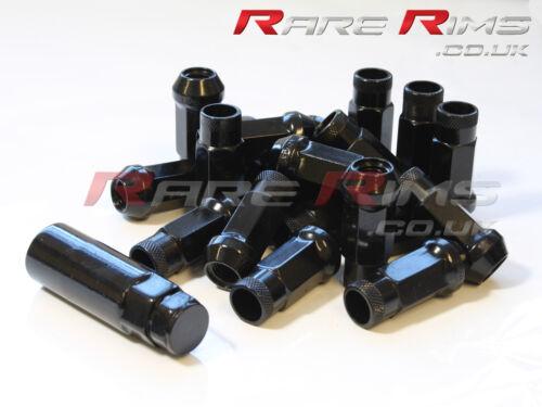 20 x Noir GT50 écrous De Roue M12x1.5 pour Lexus IS300 FSI LS430 SC460