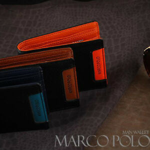 377325a7bc MARCO POLO) Men s Trifold Premium Faux Leather Wallet  MP562 - Free ...