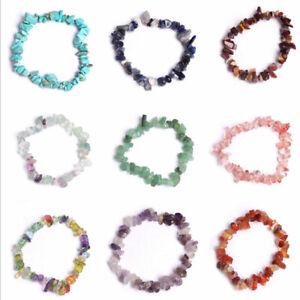 Fashion-Gemstone-Crystal-Chip-Beaded-Stretch-Gift-Charm-Reiki-Healing-Bracelet