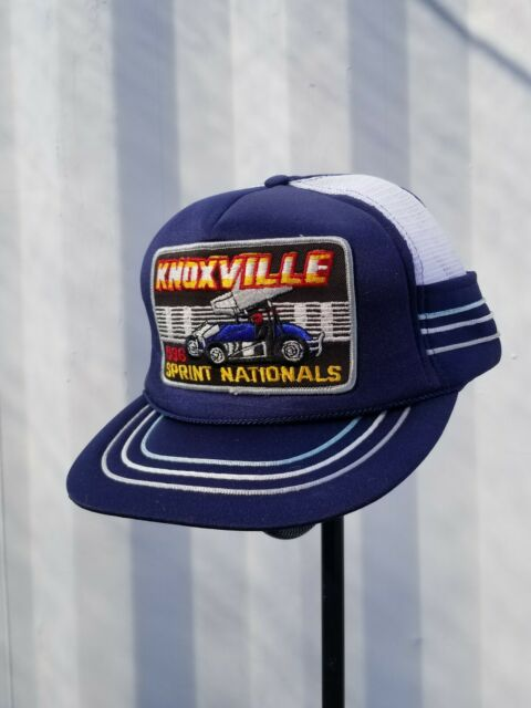 1986 Knoxville Nationals Patch on Five-Panel Mesh Snapback Hat