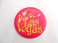 Vintage Sarah Coventry Jewelry Viva Las Vegas 4 inch Advertising Pinback Button
