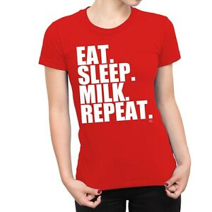 1Tee Womens Eat Sleep Gym Repeat T-Shirt