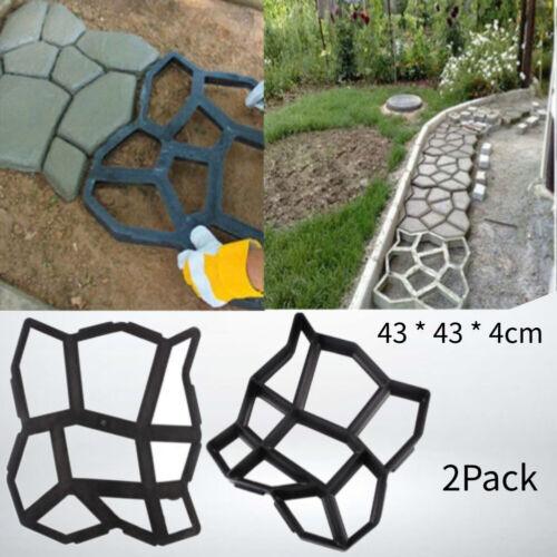 2X DIY Paving Concrete Stepping Driveway Stone Path Mold Patio Maker Mould 45X40