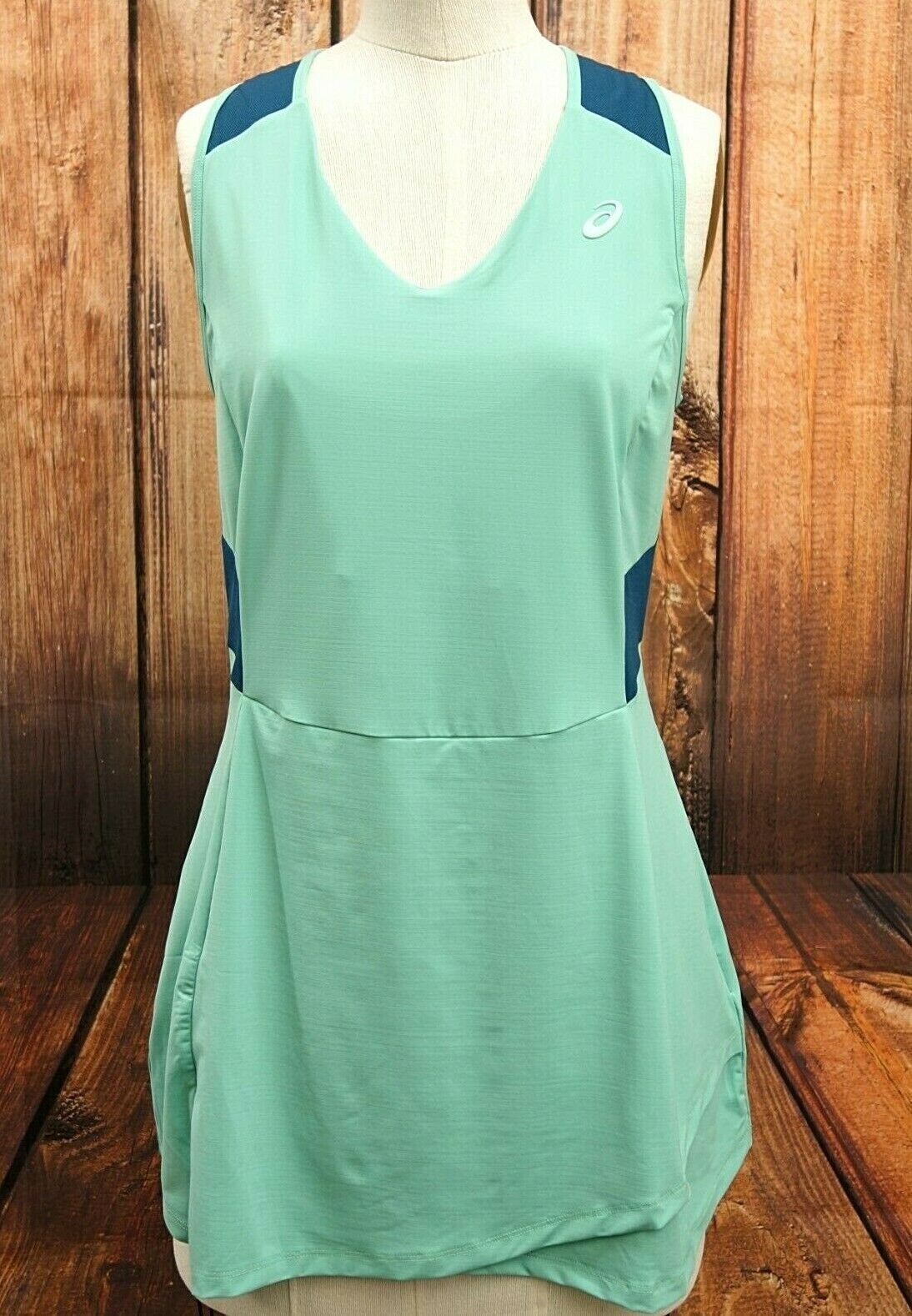 New Asics Womens Motion Dry Performance Dress Tennis Running Crossfit Size Large