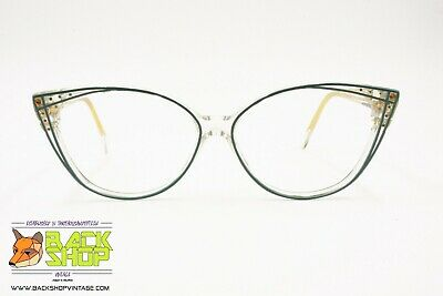 Divina Mod. 106 Made In Italy, Elegant Cat Eye Frame Eyeglass, Underlined & Ador