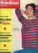 MÜNCHNER ILLUSTRIERTE, Nr. 14_1959, Cover Renate Ewert; Hongkong; Sophia Loren