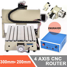 CNC ROUTER ENGRAVER ENGRAVING CUTTING 4 AXIS 3020T Woodworking MACHINE MILLING