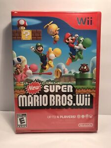 New-Super-Mario-Bros-Nintendo-Wii-game-Brand-New-Factory-Sealed
