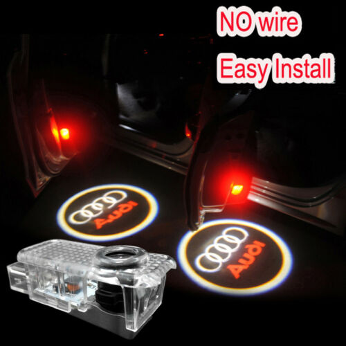 GHOST LOGO LASER PROJECTOR DOOR UNDER PUDDLE LIGHTS AUDI A1 A3 A4 A5 80 s3 rs4