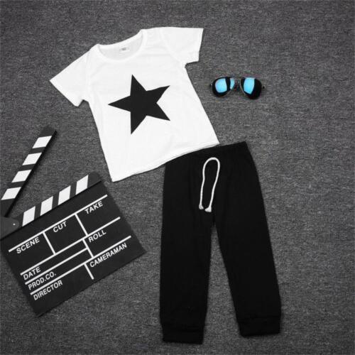 Pantalon 2pcs Baby Boy Fashion Clothing Set Casual à manches courtes T-shirt imprimé