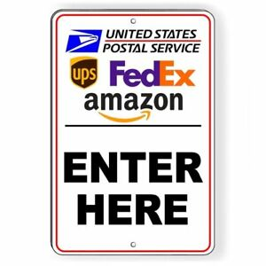 "Package Delivery Sign Instructions Amazon UPS FedEx USPS Delivery Box Sign,7/""..."