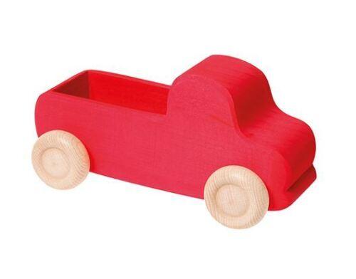 Lastwagen groß rot Holz zum beladen NEU Grimm's Spiel und Holzdesign 09440 Motorikspielzeug