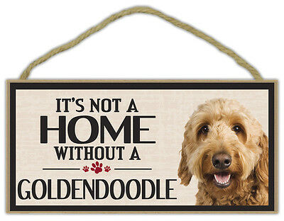 GOLDEN DOODLE A House Is Not A Home DOG wood SIGN wall PLAQUE Goldendoodle puppy