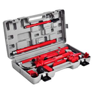10 Ton Porta Power Hydraulic Jack Body Frame Repair Kit Auto Shop Tool Heavy Set Ebay