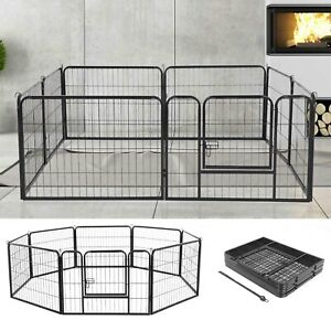 8-Panel-Foldable-Pet-Play-Pen-Puppy-Dog-Animal-Cage-Run-Fence-Exercise-Playpen