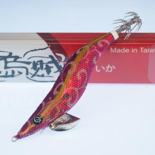 RUI SQUID JIG KR139 RED BELLY UV SIZE 3.5 EGI FISHING LURE