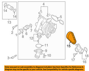 2010 volkswagen jetta engine diagram vw volkswagen oem 12 17 jetta water pump belt 06h121605e ebay  jetta water pump belt 06h121605e