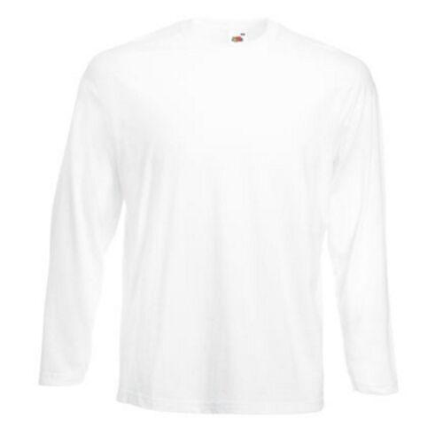 5 x Fruit of the loom Herren Langarm T-Shirt Valueweight Longsleeve Mann Shirt