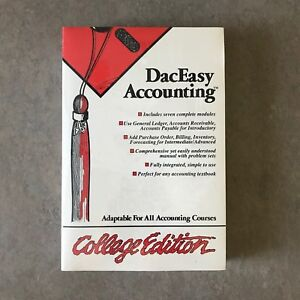Details about DacEasy Accounting College Edition Software IBM PC 5 1/4