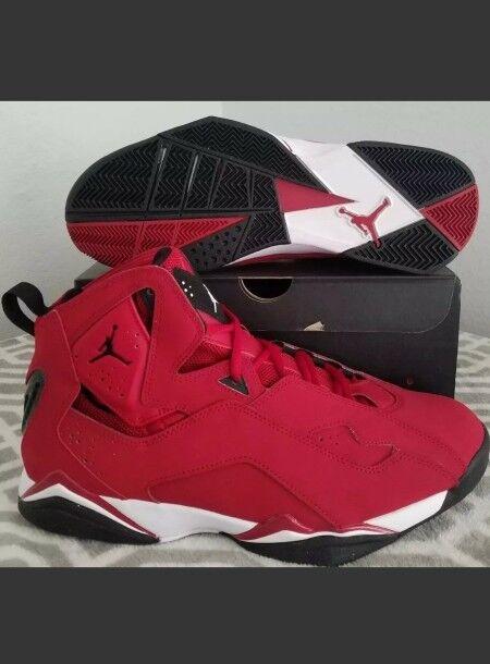 Nike air jordan vero volo rosso / bianco nero ginnastica taglia 12 (342964-620)