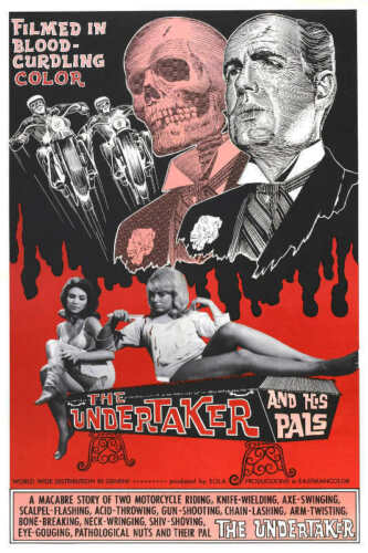 1966 THE UNDERTAKER AND HIS PALS VINTAGE HORROR MOVIE POSTER PRINT 36x24