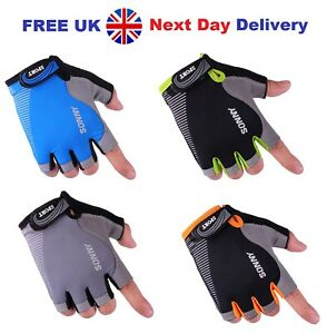 Half Finger Cycling Gloves Bike Bicycle Padded Fingerless Cycle Gloves UK Seller