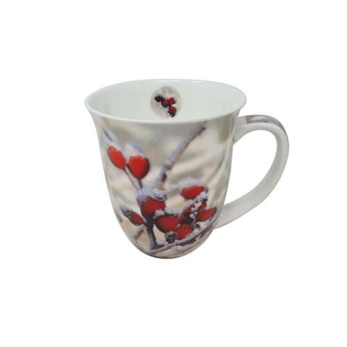 Vorlage Verpackt Weihnachten Rot Hagebutten Feinstes Porzellan Becher Tasse Topf