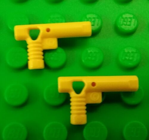 *NEW* Lego Yellow Pistols Hand Gun Nozzle Hose for Minifigures Men Figs 2 pieces