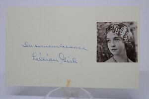 Original Autogramm Autograph LILLIAN GISH