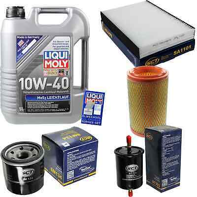 Filtro Inspektionskit Liqui Moly Olio 5l 10w-40 Per Renault Clio Ii Bb0/1/2 _-