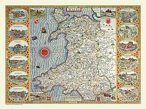 Jigsaw-Puzzle-Map-of-Wales-1611-by-John-Speed-100-500-or-1000-Piece