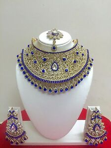 Indian-Bollywood-Style-Gold-Plated-Bridal-Fashion-Jewelry-Necklace-Set