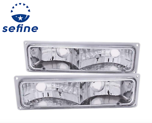 ANZO For Chevy//GMC C//K1500//2500 88-98 Parking//Signal Lights Clear Black 511050