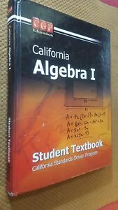 Details about Algebra I (California) CGFP Middle School Text Book Home  School