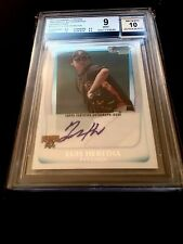 2011 BOWMAN CHROME PROSPECT ~ LUIS HEREDIA REFRACTOR AUTO BGS 9/10~ PIRATES