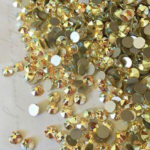 22f16c457c798 Details about Swarovski Crystal Glue on 100x SS20 Jonquil yellow AB effect  diamante rhinestone