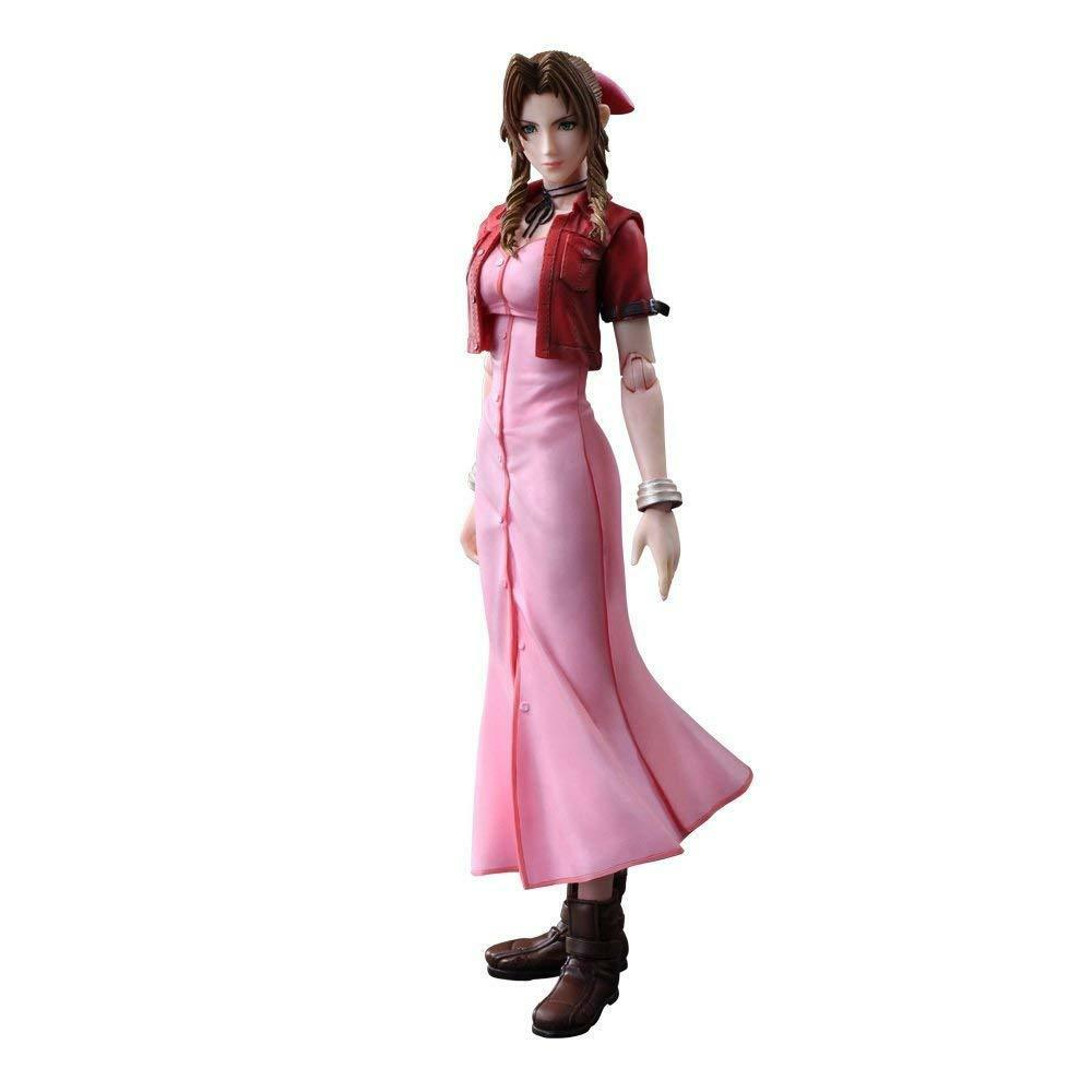 PLAY ARTS Kai CRISIS CORE FINAL FANTASY VII Aerith Action Figure w  Tracking NEW