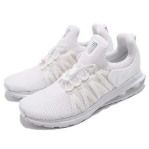 newest b2512 b2620 Image is loading Nike-Shox-Gravity-Triple-White-Men-Running-Shoes-