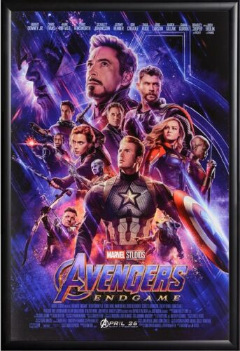 AVENGERS ENDGAME MOVIE POSTER FRAMED in Premium Black Wood Frame