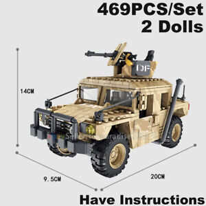 Military-Soldiers-Call-Of-Duty-Jeep-Humvee-Jeep-Fit-Mega-Bloks-Lego-MiniFigures